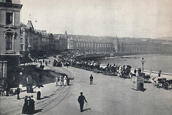 'Douglas - General View of the Promenade', 1895-Unknown-Photographic Print