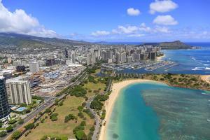 Ala Moana Shopping Center, Waikiki, Honolulu, Oahu, Hawaii by Douglas Peebles