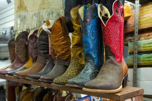 Cowboy Boots, San Juan de Dios Market, Guadalajara, Jalisco, Mexico by Douglas Peebles