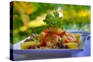 Cuisines, Shrimp Salad, Matangi Private Island Resort, Fiji by Douglas Peebles