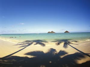 Hawaii Islands, Oahu, View of Lanikai Beach by Douglas Peebles