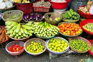 Market, Sa Dec, Mekong River, Vietnam, Asia by Douglas Peebles