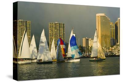 Sailboat Race, Ala Moana Beach Park, Waikiki, Honolulu, Hawaii