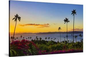 Sunset, Taveuni, Vanua Levu in Background, Fiji by Douglas Peebles