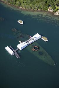 USS Arizona Memorial, Pearl Harbor, Oahu, Hawaii by Douglas Peebles