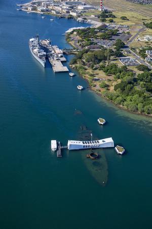 USS Missouri and USS Arizona Memorial, Pearl Harbor, Oahu, Hawaii