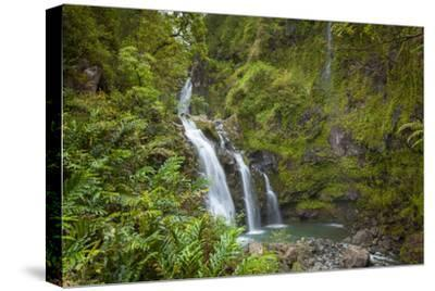 Waikani Waterfalls, Aka Three Bears, Hana Coast, Maui, Hawaii, USA