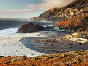 Little Sur River Flowing into the Pacific at Big Sur by Douglas Steakley
