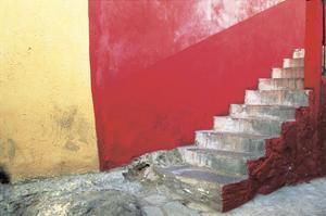 Red Stairway by Douglas Steakley