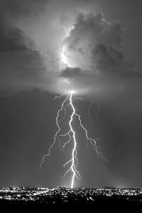Blue Lightning BW by Douglas Taylor