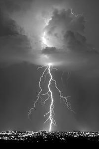 Blue Lightning BW by Douglas Taylor