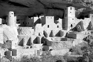 Cliff Palace at Mesa Verde BW by Douglas Taylor