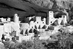 Cliff Palace Pueblo BW by Douglas Taylor
