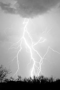 Dancing Lightning BW by Douglas Taylor