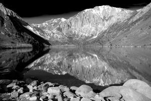 Laurel Mountain Reflections BW by Douglas Taylor