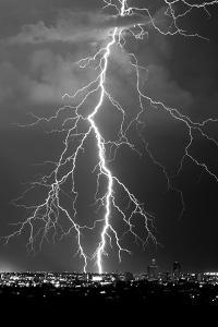 Lightning Portrait BW by Douglas Taylor