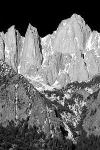 Morning on Mt Whitney II BW by Douglas Taylor