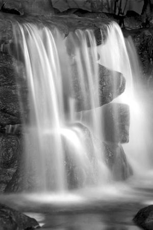 Sunset Waterfall II BW