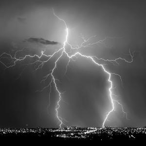 Urban Lightning I BW by Douglas Taylor