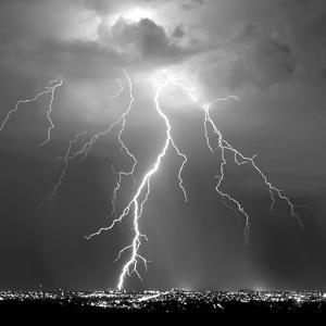 Urban Lightning II BW by Douglas Taylor