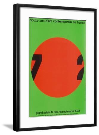 Douze ans d'art contemporain-Roman Cieslewicz-Framed Premium Edition