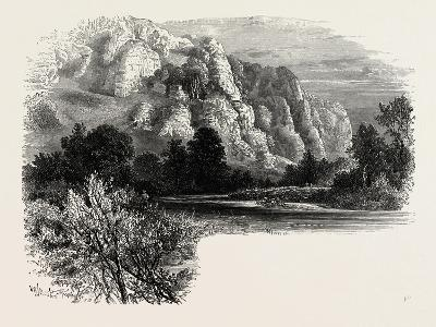 Dove Dale, the Dales of Derbyshire, Country, UK, 19th Century--Giclee Print