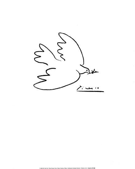 Dove of Peace-Pablo Picasso-Art Print