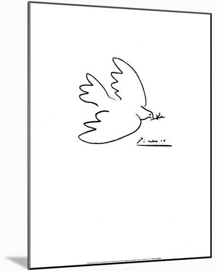 Dove of Peace-Pablo Picasso-Mounted Art Print