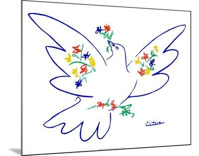 Dove of Peace-Pablo Picasso-Mounted Print