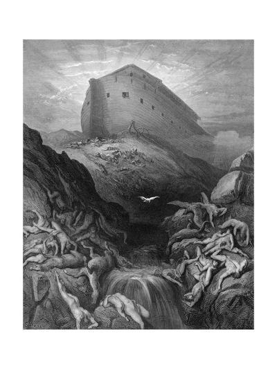 Dove Sent Forth from the Ark-Gustave Dor?-Giclee Print