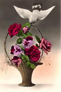 Dove with Bouquet