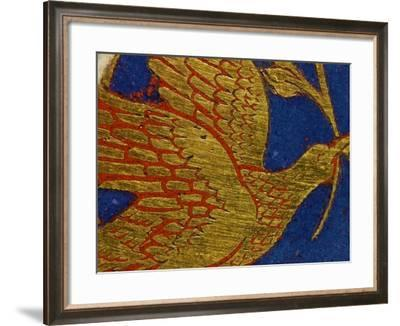 Dove with Olive Leaf, from the Panel Noah's Ark of the Verdun Altar-Nicholas of Verdun-Framed Giclee Print