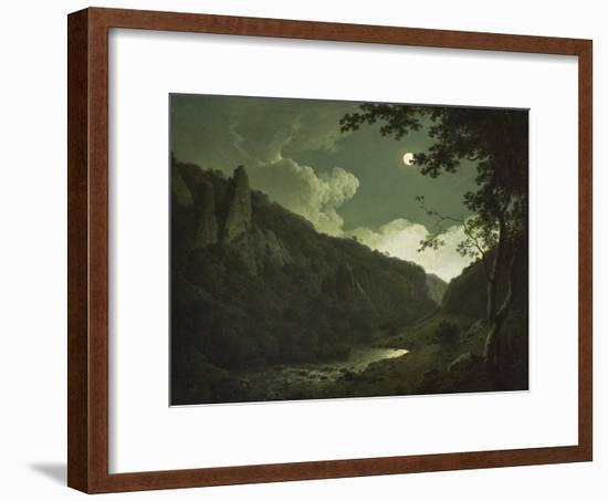Dovedale by Moonlight, C.1784-85-Joseph Wright of Derby-Framed Giclee Print