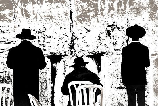 Dovening, from the Series Tuesday at the Wailing Wall (2016)-Joy Lions-Giclee Print