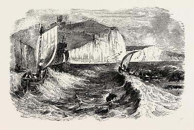 Dover Castle and Cliffs--Giclee Print