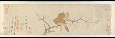 Doves and Pear Blossoms after Rain-Qian Xuan-Giclee Print