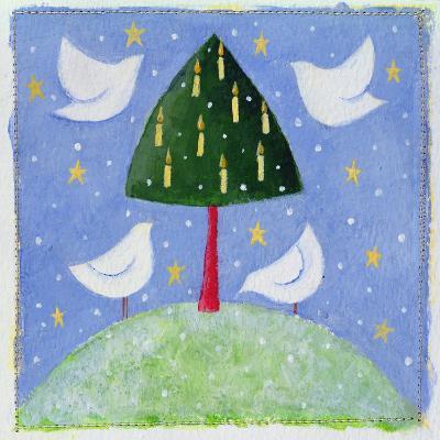 Doves around the Tree, 2001-Alex Smith-Burnett-Giclee Print