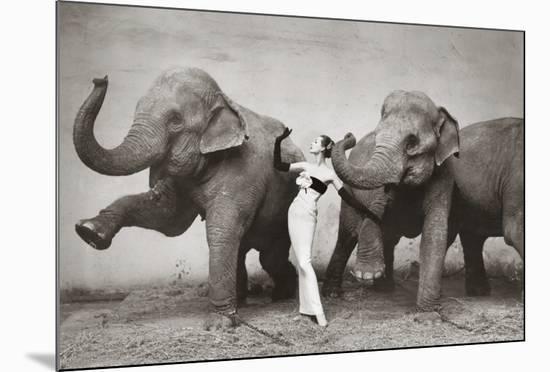 Dovima with Elephants, c.1955-Richard Avedon-Mounted Art Print