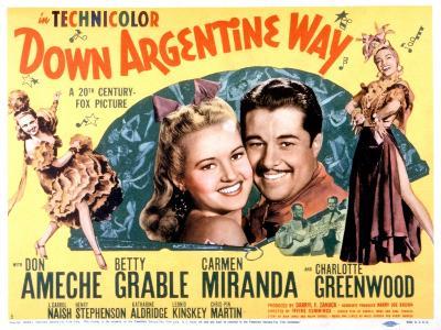 Down Argentine Way, Betty Grable, Don Ameche, Carmen Miranda, 1940--Photo