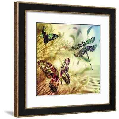 Down by Misty Creek-Mindy Sommers-Framed Giclee Print