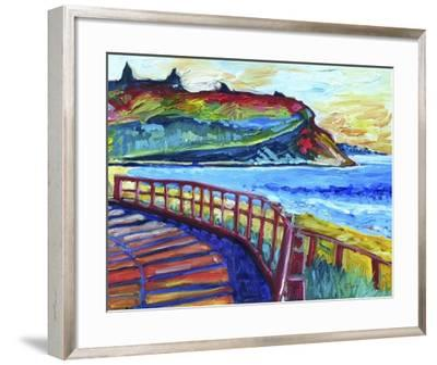 Down the Boardwalk-Sara Catena-Framed Giclee Print