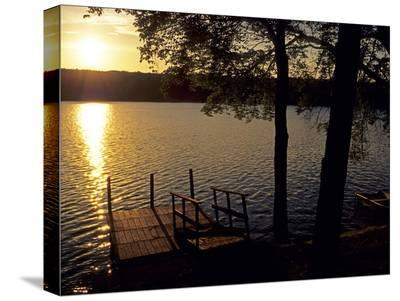 Down the Dock-AJ Messier-Stretched Canvas Print