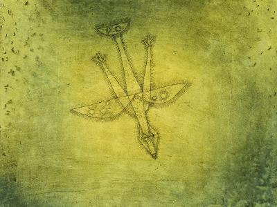 Down the More Troubling Bird-Paul Klee-Giclee Print