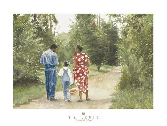 Down the Road-E^ B^ Lewis-Art Print