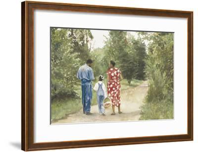 Down the Road-E^ B^ Lewis-Framed Art Print
