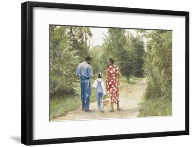 Down the Road-E. B. Lewis-Framed Art Print