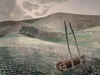 Downs in Winter-Eric Ravilious-Giclee Print