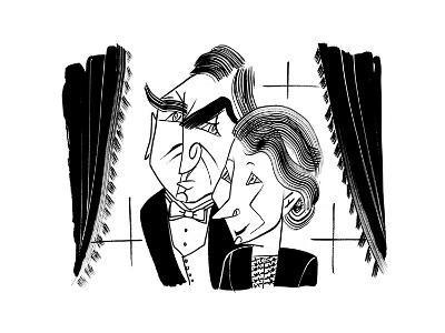 Downton Abbey Carson and Hughes - Cartoon-Tom Bachtell-Premium Giclee Print
