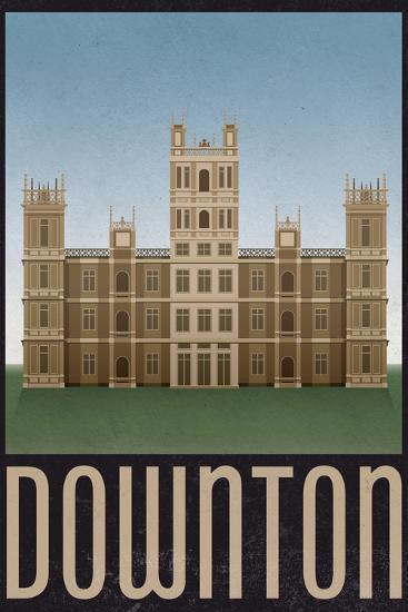 Downton Retro Travel Poster--Poster