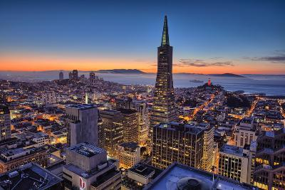Downtown After Sunset, San Francisco, Cityscape, Urban View-Vincent James-Photographic Print